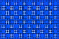 Fondo nero del blu di Mesh With Square Pattern On Fotografia Stock