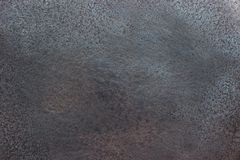 Fondo nero del metallo, primo piano brillante di struttura del ferro Fotografia Stock
