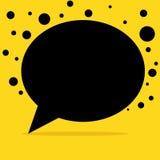 Fondo nero del minimalista della bolla di conversazione illustrazione vettoriale