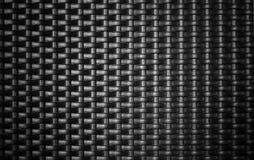 Fondo nero del tessuto del metallo Fotografia Stock Libera da Diritti