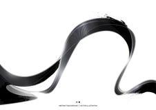Fondo nero dell'estratto della banda dell'inchiostro, illustrazione di vettore Fotografia Stock