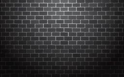 Fondo nero dell'illustrazione di vettore del muro di mattoni illustrazione vettoriale