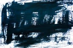 Fondo nero dell'inchiostro dipinto dalla spazzola Illustrazione colpi neri astratti della spazzola su Libro Bianco come fondo gru Fotografie Stock Libere da Diritti