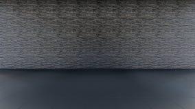 Fondo nero dell'interno del mattone illustrazione vettoriale