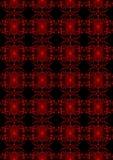 Fondo nero dell'ornamento floreale rosso d'ardore Immagine Stock