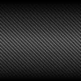 Fondo nero della fibra del carbonio di vettore Fotografia Stock