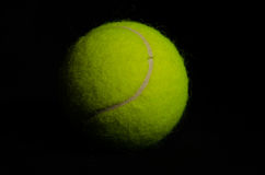 Fondo nero 3 della pallina da tennis Immagini Stock Libere da Diritti