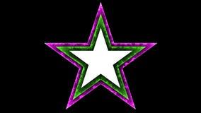 Fondo nero della stella 040 - variopinto al neon di incandescenza - illustrazione di stock