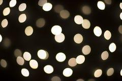Fondo nero delle luci di Natale Immagini Stock Libere da Diritti
