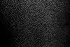 Fondo nero di cuoio della tappezzeria dell'automobile Fotografia Stock Libera da Diritti