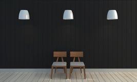 Fondo nero di legno della parete di colore Immagine Stock