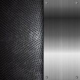 Fondo nero di lerciume del metallo Immagine Stock