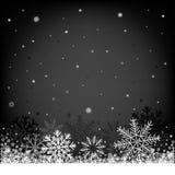 Fondo nero di Natale Fotografia Stock