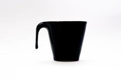 Fondo nero di vetro di bianco del caffè di colore Fotografia Stock Libera da Diritti
