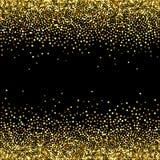 Fondo nero di vettore con la scintilla di scintillio dell'oro Immagini Stock