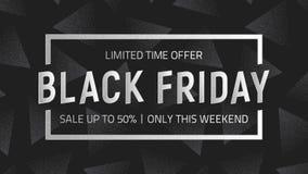 Fondo nero di vettore di vendita di venerdì illustrazione di stock