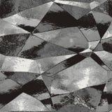 Fondo nero e grigio astratto con le riflessioni leggere che somigliano al foglio metallizzato Immagine Stock