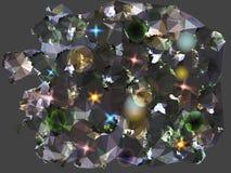 Fondo nero e grigio astratto rievocativo dei diamanti Fotografia Stock