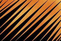 Fondo nero ed arancio astratto con le bande diagonali o ad angolo e la struttura illustrazione vettoriale