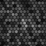 Fondo nero esagonale del modello Fotografia Stock