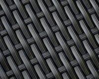 Fondo nero grigio del modello di tessuto di canestro Fotografia Stock Libera da Diritti