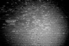 Fondo nero grigio scuro del muro di mattoni illustrazione di stock