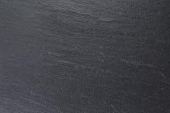 Fondo nero naturale dell'ardesia Fotografia Stock