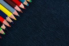 Fondo nero per le presentazioni con pe superiore giusto colourful Immagine Stock Libera da Diritti