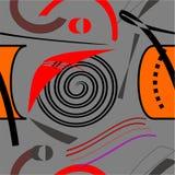 Fondo nero rosso astratto, modello senza cuciture 18-19 Illustrazione Vettoriale