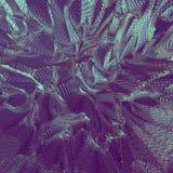 Fondo neto de oro abstracto 3D Foto de archivo libre de regalías