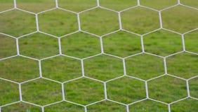 Fondo neto del fútbol Imagen de archivo libre de regalías
