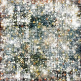 Fondo nevoso abstracto con los copos de nieve, estrellas Imagenes de archivo