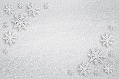 Fondo nevoso de la tarjeta de felicitación del Año Nuevo Fotos de archivo
