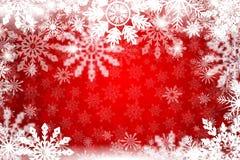 Fondo nevoso di inverno rosso Immagini Stock