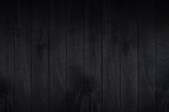 Fondo Noir del tablero de madera del negro de la elegancia Textura de madera Fotos de archivo