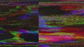 Fondo nostálgico dinámico abstracto del delirio del error de datos stock de ilustración