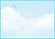 Fondo nublado Imagenes de archivo