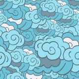 Fondo nublado estilizado Fotos de archivo libres de regalías