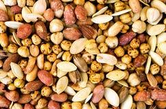 Fondo Nuts mezclado fotografía de archivo