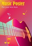 Fondo o cartel de la música Fotos de archivo libres de regalías