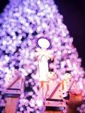 Fondo o papel pintado de la Feliz Navidad Imagenes de archivo