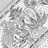 Fondo o recubrimiento floral prosperado del damasco Foto de archivo