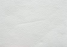 Fondo o struttura bianco della carta igienica Fotografie Stock Libere da Diritti