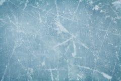Fondo o struttura della pista di pattinaggio del hockey su ghiaccio da sopra, macro, fotografia stock libera da diritti