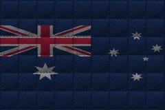 Fondo o struttura di cuoio con il mescolamento della bandiera dell'Australia Fotografia Stock Libera da Diritti