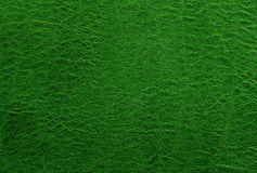 Fondo o struttura di cuoio verde Estratto Fotografia Stock