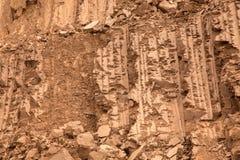 Fondo o struttura di grande parete dell'argilla Immagine Stock