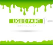 Fondo o struttura liquido della pittura Fotografie Stock