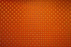 Fondo o struttura rosso del metallo del diamante Fotografia Stock