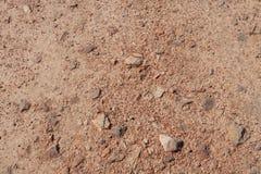 Fondo o struttura rosso della sporcizia (suolo) fotografia stock libera da diritti